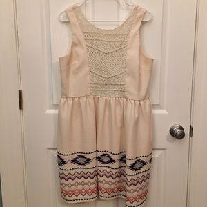 Sleeveless Cream and Lace Dress